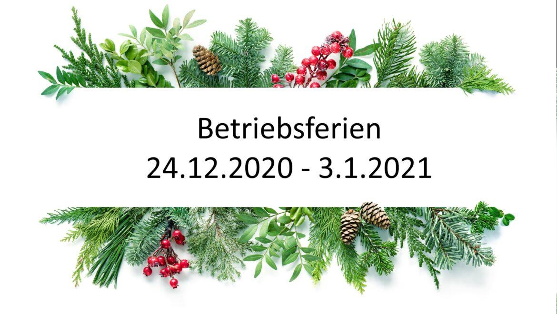 Ferien Weihnachten/Neujahr